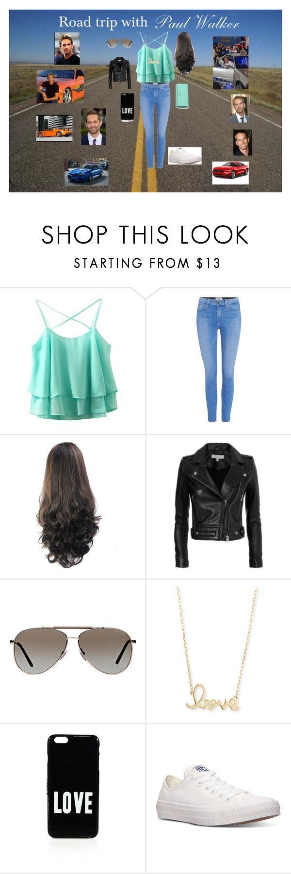 """""""Road trip with Paul Walker"""" by dsherbundy ❤ liked on Polyvore featuring Paige Denim, IRO, Tom Ford, Sydney Evan, Givenchy, Converse, Kate Spade, Carrera and VIVO"""