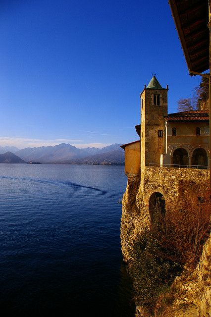Hermitage of Santa Caterina del Sasso, Leggiuno, Varese, Italy Lombardy