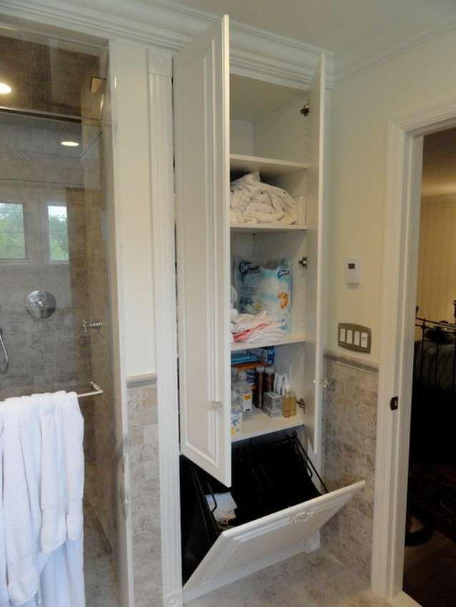 Шкаф для ванной 100 фото   Шкаф для белья, Реконструкция ...