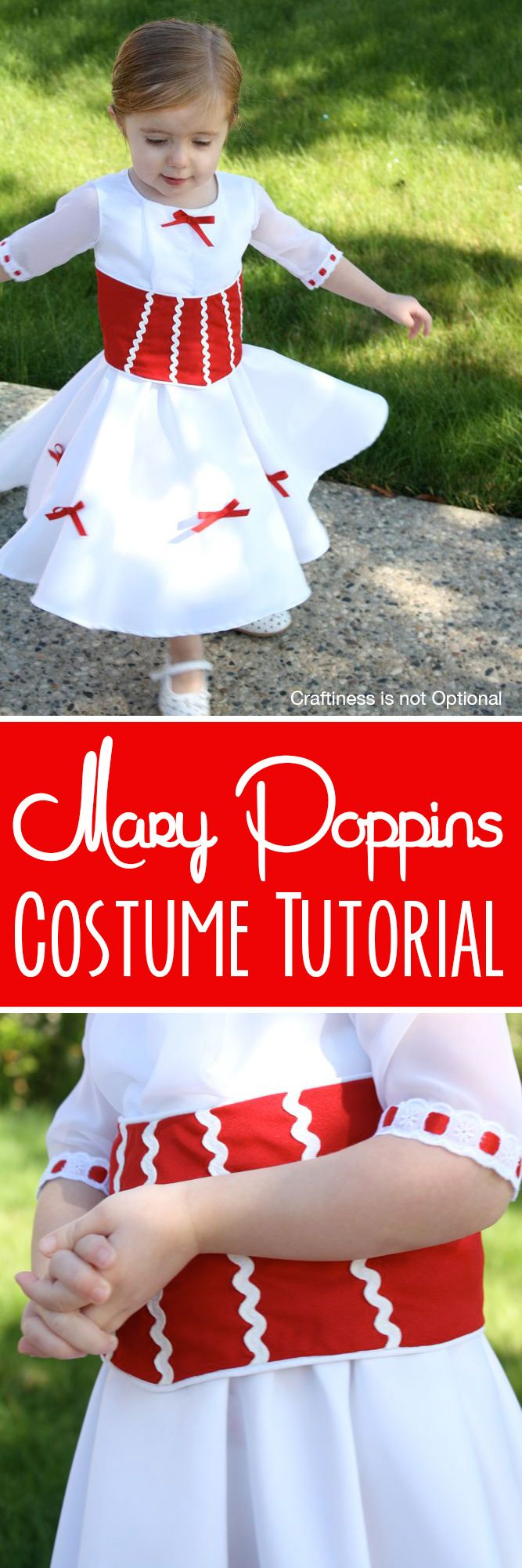 Make a Mary Poppins dress! tutorial