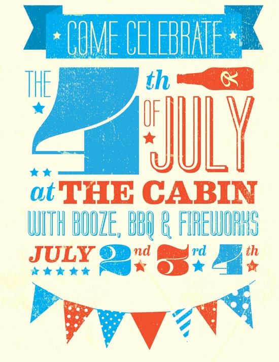 4th of July Invite Design