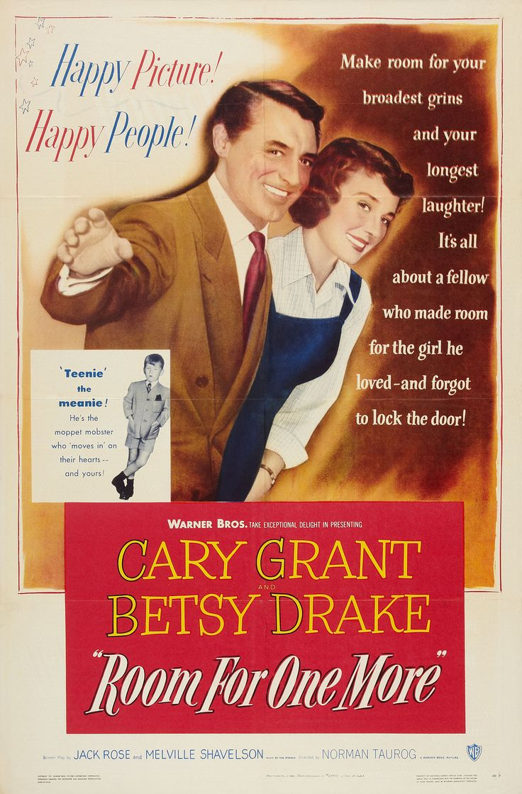 ROOM FOR ONE MORE (1952) - Cary Grant - Betsy Drake - Directed by Norman Taurog - Warner Bros. - Movie Poster.