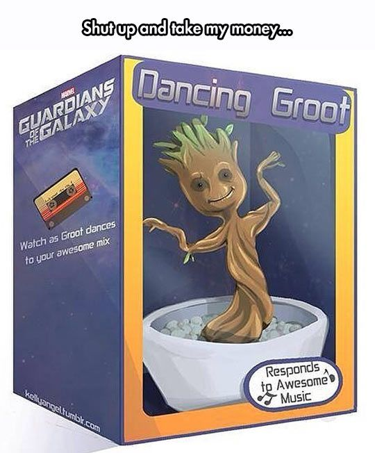 I Want My Dancing Groot Idc if I'm a grownup (supposedly) I want it!!