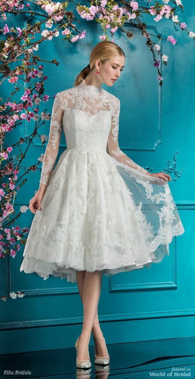 229 best Short & Tea Length Wedding Dresses images on Pinterest ...