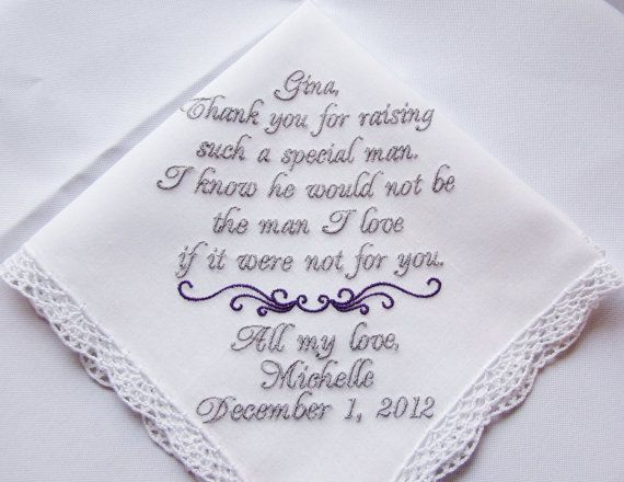 Personalized Mother of the Groom Keepsake Wedding by mollyandmom, $28.00