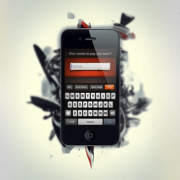PayMeBack for iPhone by Rick Waalders, via Behance
