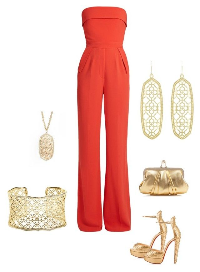 Untitled #650 by ladyspartan on Polyvore featuring polyvore fashion style Elie Saab Christian Louboutin Kendra Scott clothing