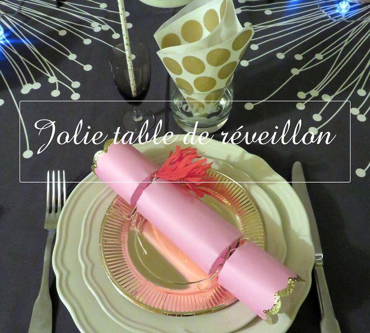 Une table de fête pour le Réveillon du jour de l'an!