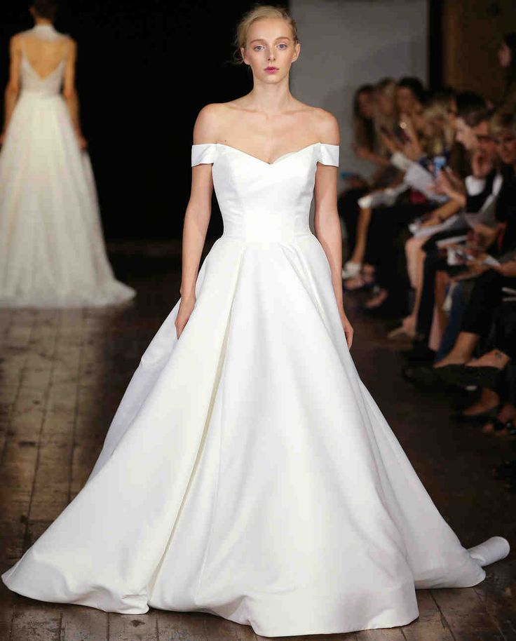 "Rivini by Rita Vinieris Fall 2017 Wedding Dress Collection | Martha Stewart Weddings – ""Darling"" Princess Ballgown with portrait neckline."