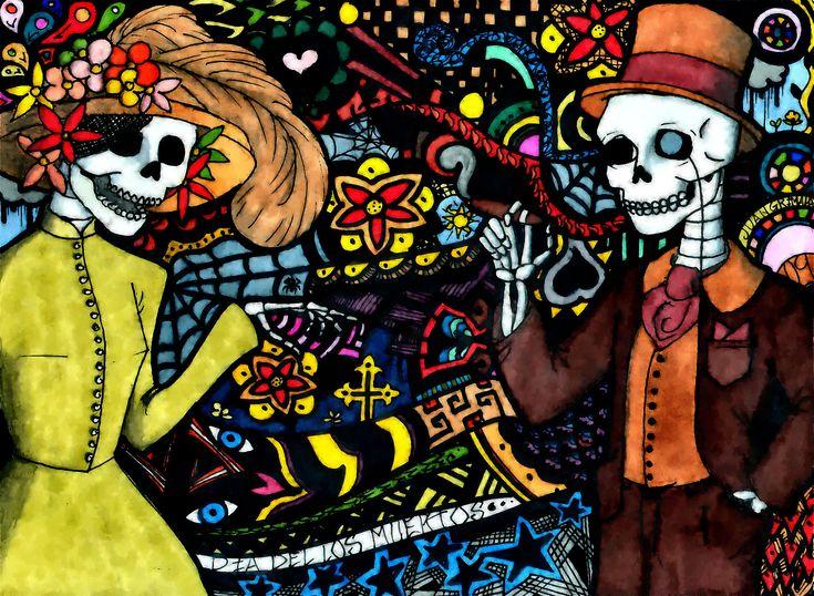 da de los muertosits own thing not mexican halloween - Mexican Halloween Skulls