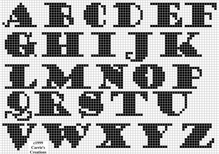 Free cross stitch alphabets from freepatternsonline.com