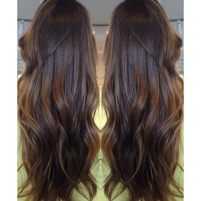 One of my favorites on a dark brunette who wanted to feel sunkissed!  Happy first day of Spring! @modernsalon #modernsalon #sunkissed