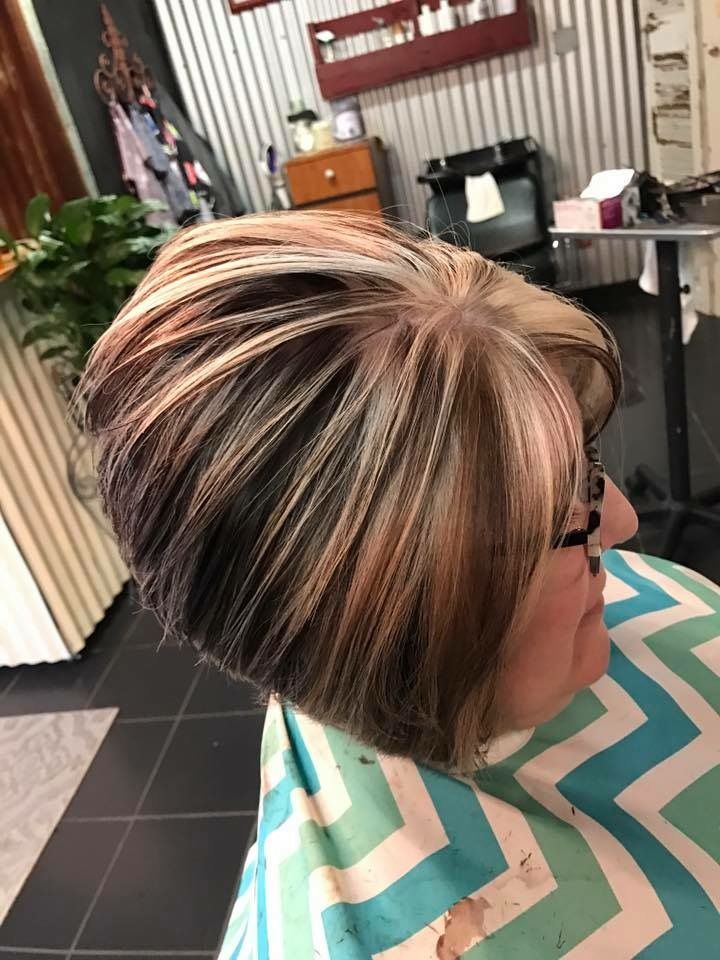 Super Stacked!!!! Schwarzkopf color.... by Becky Tinsley at Steel Magnolias Hair Salon