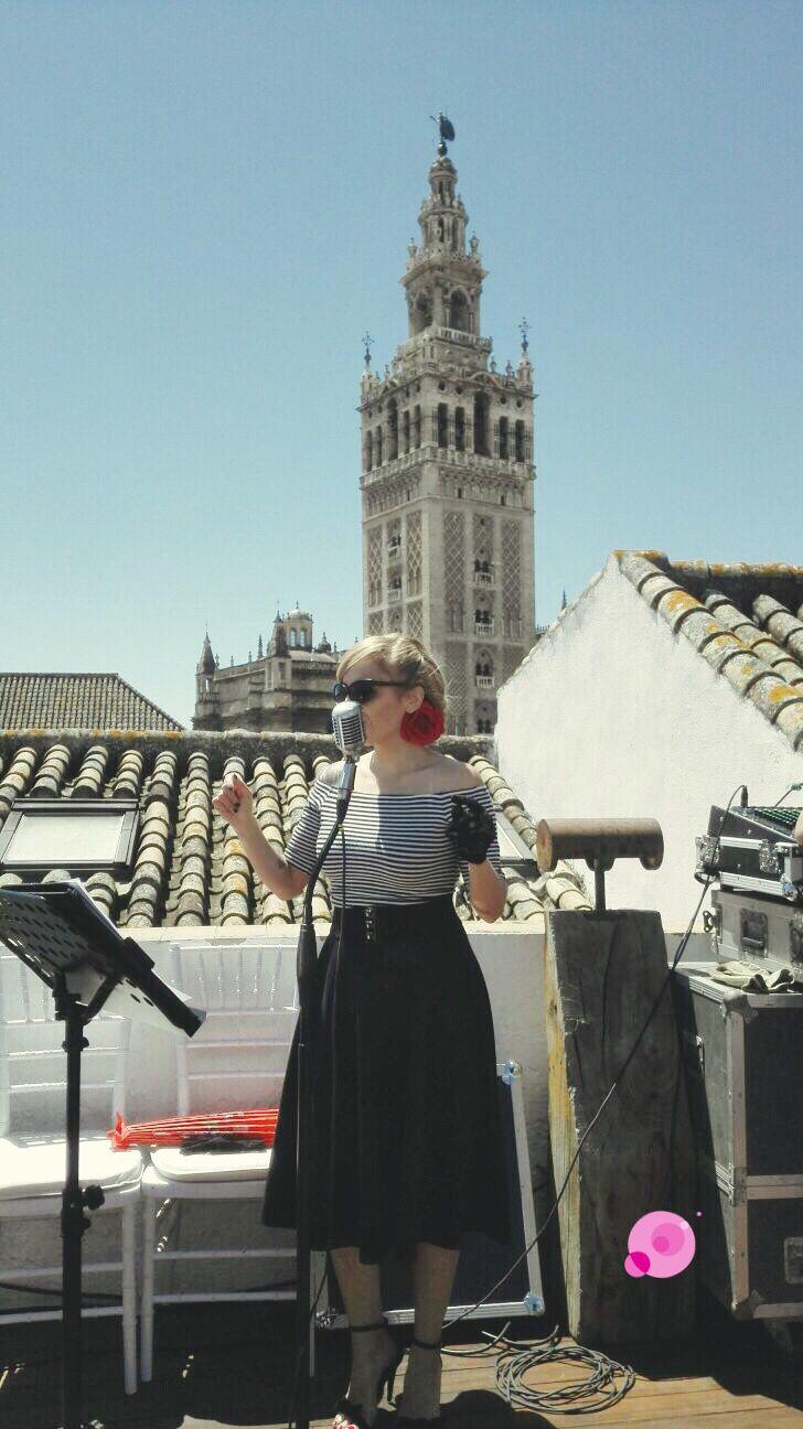 #boda celebrada en #Sevilla con la #Giralda al fondo. #wedding