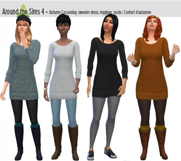 Around The Sims 4: Sweater Dress • Sims 4 Downloads