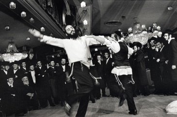 Men Dance With Women At Hasidic Jewish Wedding