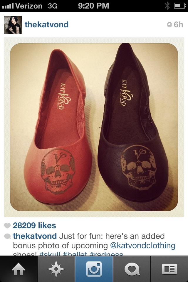 Shoes by Kat Von D.