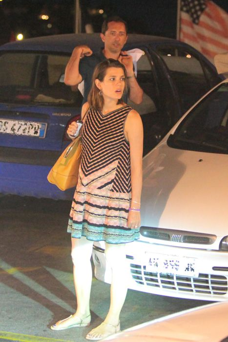 Charlotte Casiraghi (daughter of Princess Caroline of Monaco) seen shopping for baby clothes on the Italian island of Capri on 5 August 2013.  The palace has yet to confirm her pregnancy. - hellomagazine.com