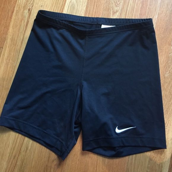 Nike spandex shorts Great for any volleyball uniform. High waisted spandex with embroidered logo Nike Shorts