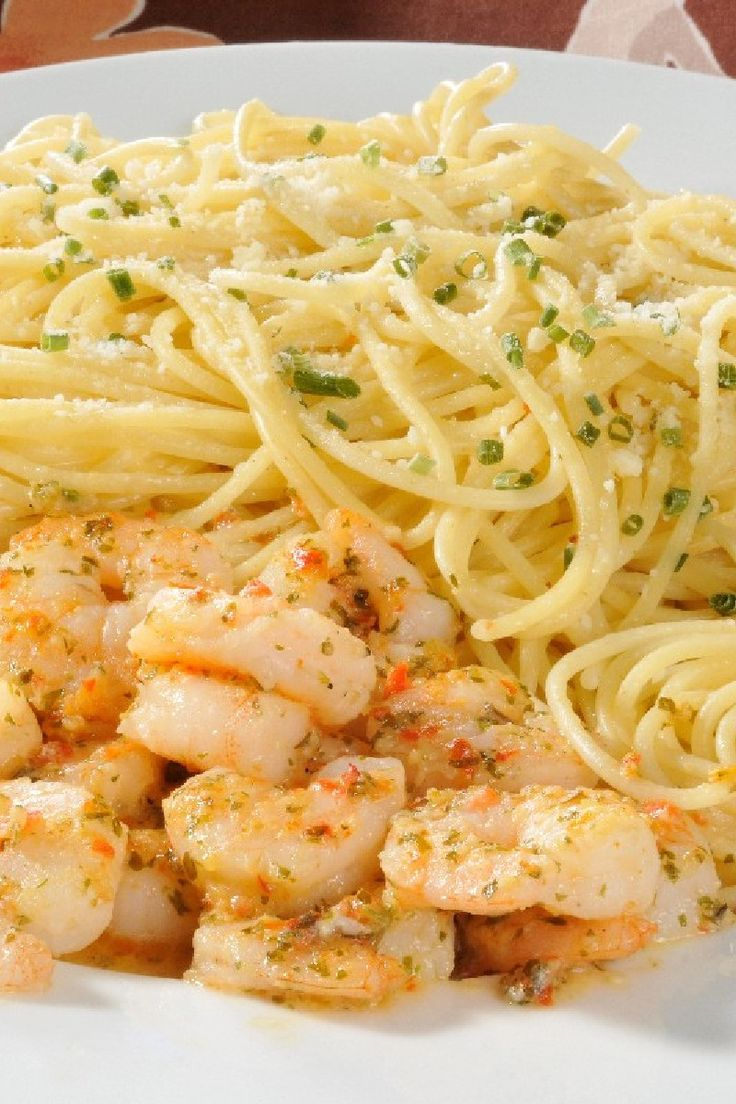 Spicy Shrimp and Spaghetti Aglio Olio (Garlic and Oil) Recipe