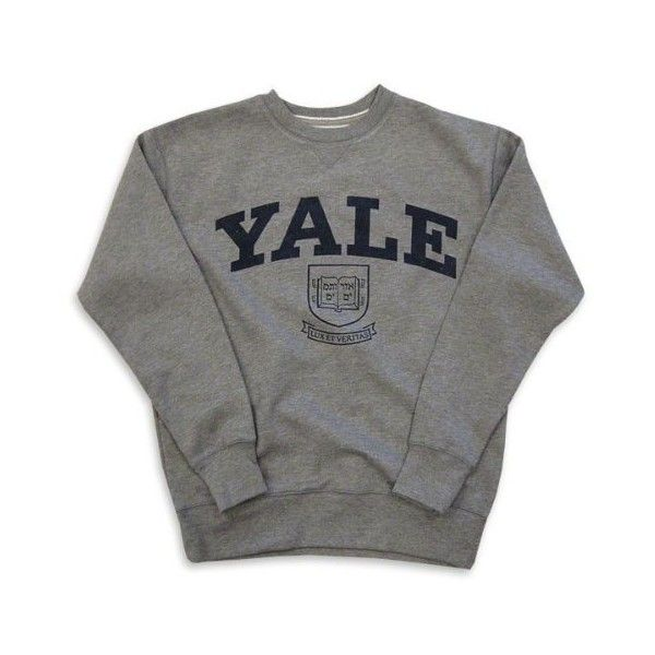 Yale Bulldogs Slate '47 Brand Vintage College Crewneck Sweatshirt (£46) ❤ liked on Polyvore featuring tops, hoodies, sweatshirts, sweaters, shirts, vintage sports sweatshirts, sport sweatshirts, vintage sport shirts, shirt tops and vintage crew neck sweatshirts
