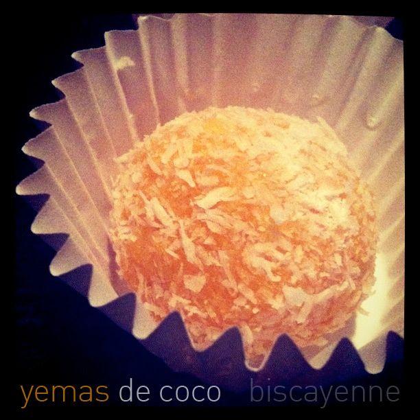 Biscayenne: Yemas de coco o cómo parecer una diosa doméstica en 20 minutos