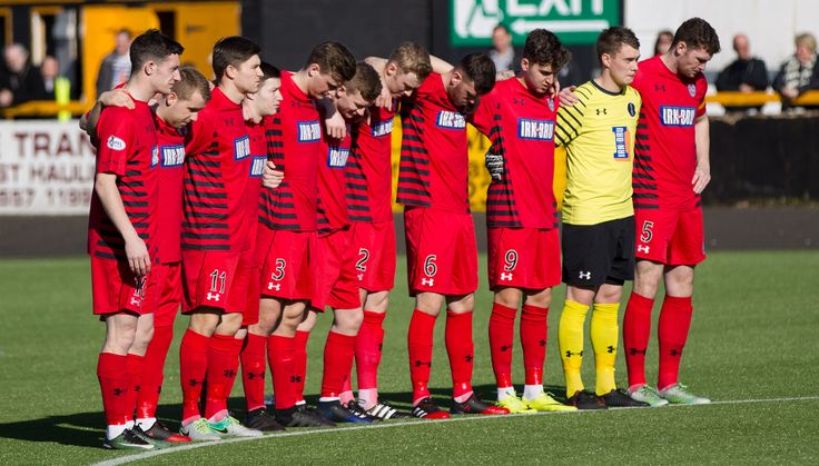 Queen's Park players acknowledge the London atrocities before the Ladbrokes League One game between Alloa Athletic and Queen's Park.