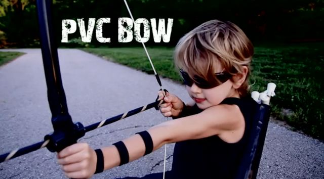 Make your own pvc bow and arrows really easy and really for Bow made out of pvc pipe