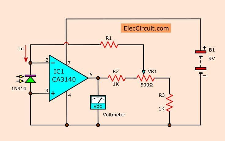pin on meters \u0026 detectors simple led electronic circuits voltage converter circuit diagram