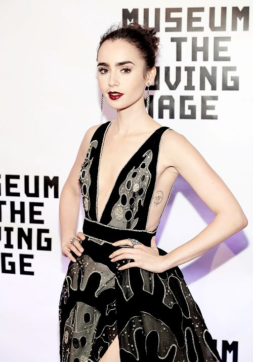 Lily Collins attends Museum Of The Moving Image 30th Annual Salute honoring Warren Beatty at 583 Park Avenue on November 2, 2016