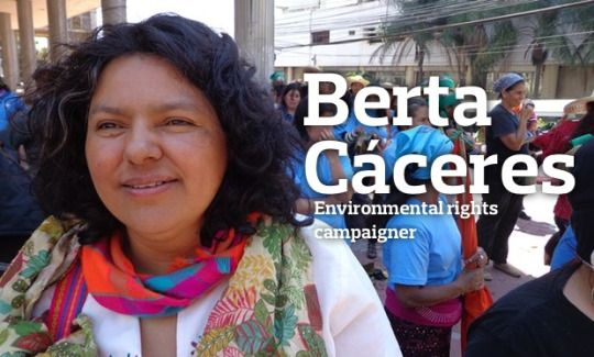 Berta Cáceres (c. 1971 - 2016) was a Honduran environmental activist, indigenous leader of her people, and co-founder and coordinator of the Council of Popular and Indigenous Organizations of Honduras...