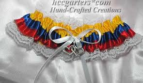 colombian wedding garter