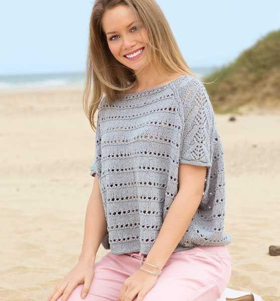 Пуловер в стиле оверсайз - схема вязания спицами. Вяжем Пуловеры на Verena.ru РАЗМЕРЫ  38–42 (44–48) интересная выкройка