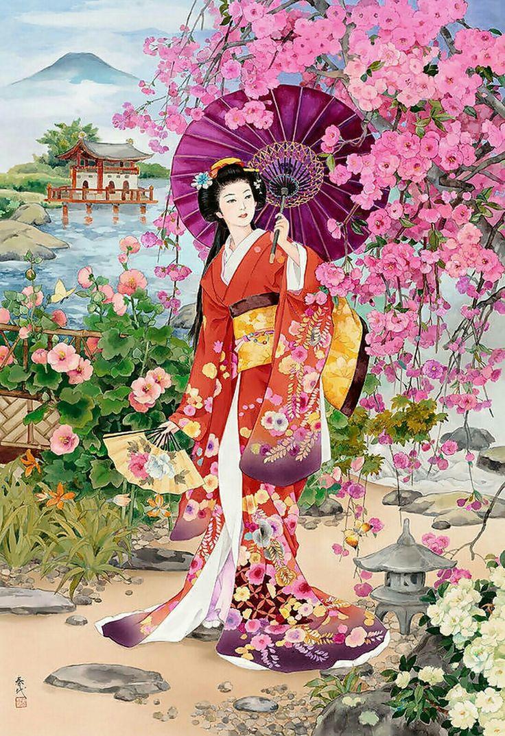 美しい和風の絵、日本 #美しい