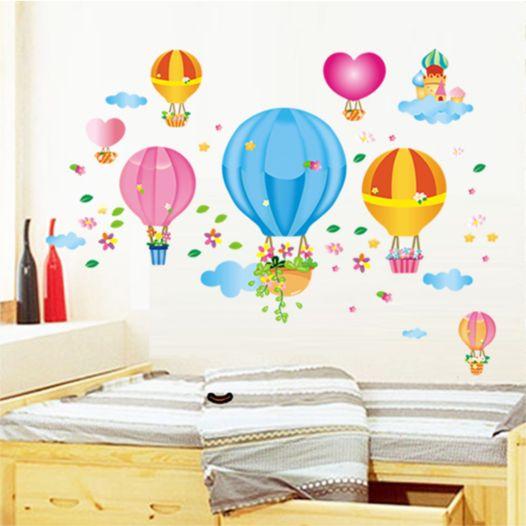 Hemdekor - Väggdekor Luftballonger Och Moln