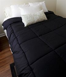 Dorm Bedding Black Comforter - Extra Long Twin Comforter for College Beds