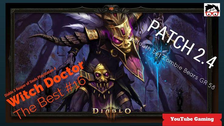 Diablo 3 patch 2.4 on PS4 Witch Doctor Helltooth Full Set Zombie Bears  ... #Diablo3
