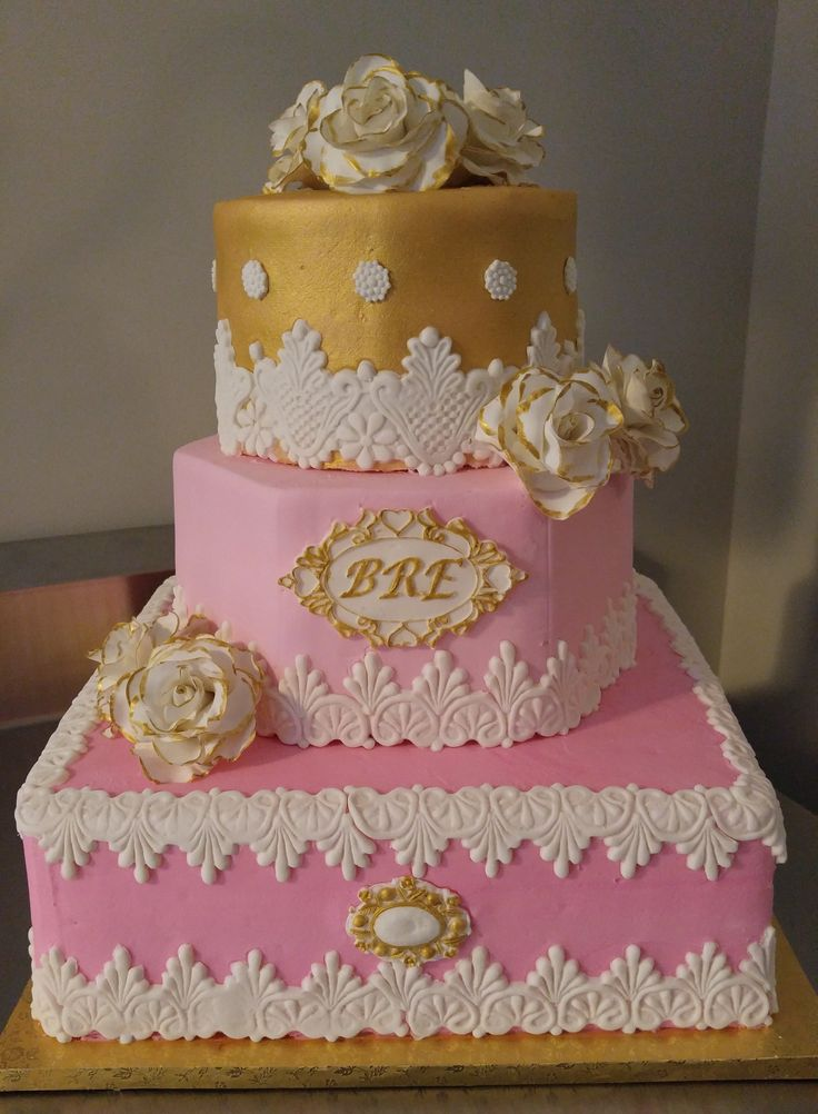 38 Best Images About Tier Cakes Sweet 16 Cakes La