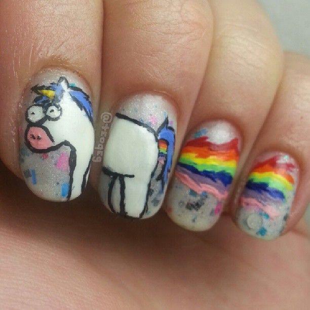 despicable me unicorn nails - photo #12