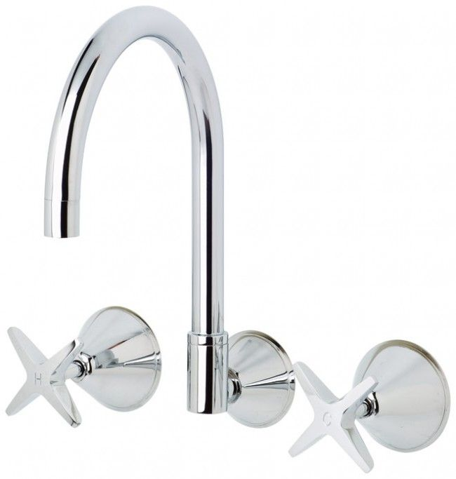 Ivy Wall Sink Set Chrome https://www.youplumbing.com.au/kitchen/sink-tapware/wall-mount-sets/ivy-range-wall-sink-set.html #homeproducts #onlineshopping