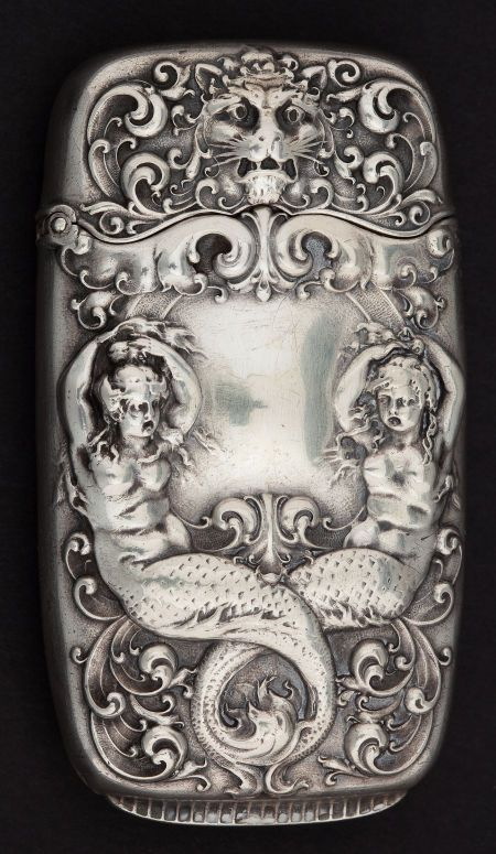 A GORHAM SILVER MATCH SAFE . Gorham Manufacturing Co.,   Lot #68015   Heritage Auctions