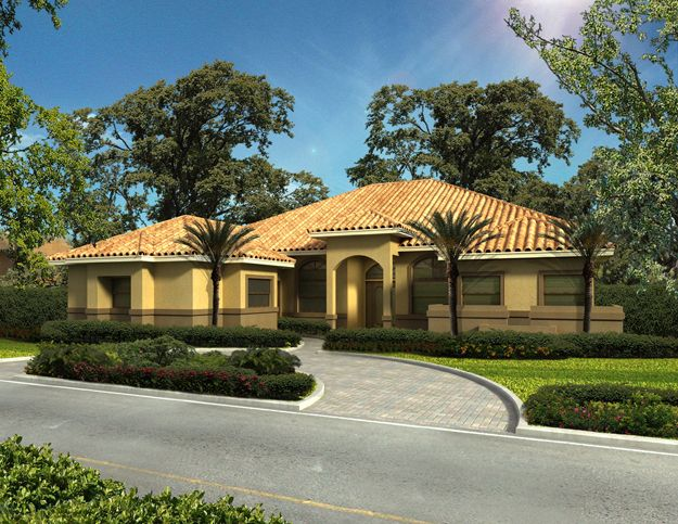 17 best images about spanish style exterior on pinterest for Florida mediterranean house plans