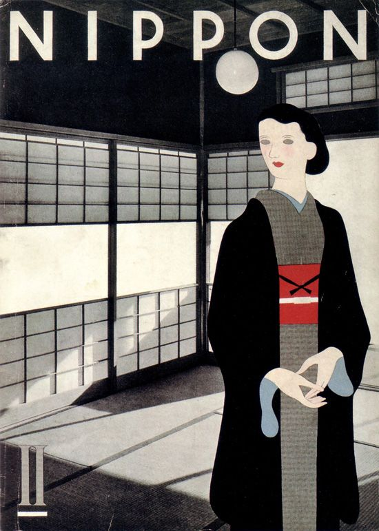 "✚ Cover of ""Nippon"" Magazine, January 1935 #japanese #graphic #design #visual #art #gurafiku #nippon #magazine #cover #classic #timeless #amasian #amasia"