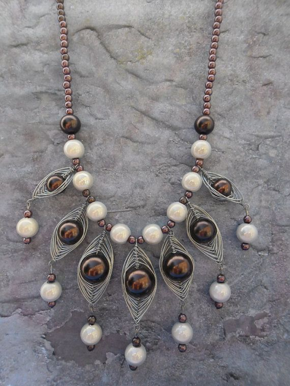 Homemade statement necklace / exuberantly by JHFWBeadsAndFindings