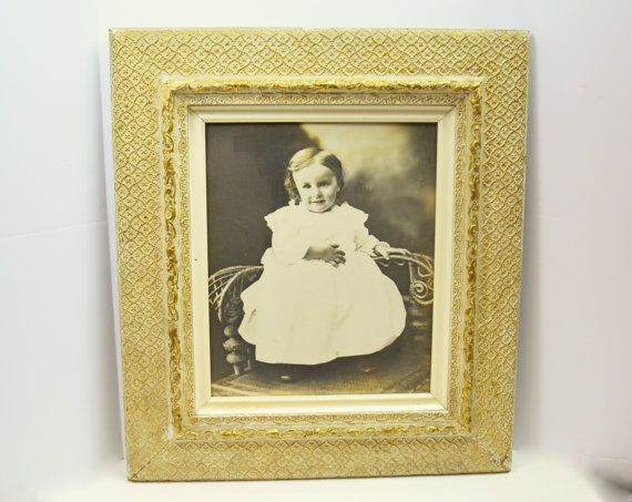 Antique Girl Picture Antique Picture Frame 1800s by Vintassentials