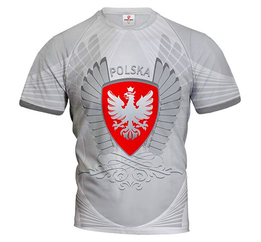 POLSKA ARMOR Poland Men's Jersey Short Sleeve HUSSAR SHIELD