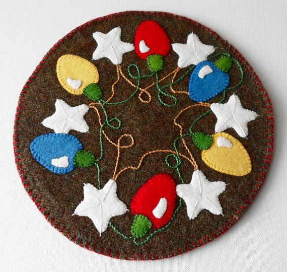 Images about penny rugs candle mats on pinterest