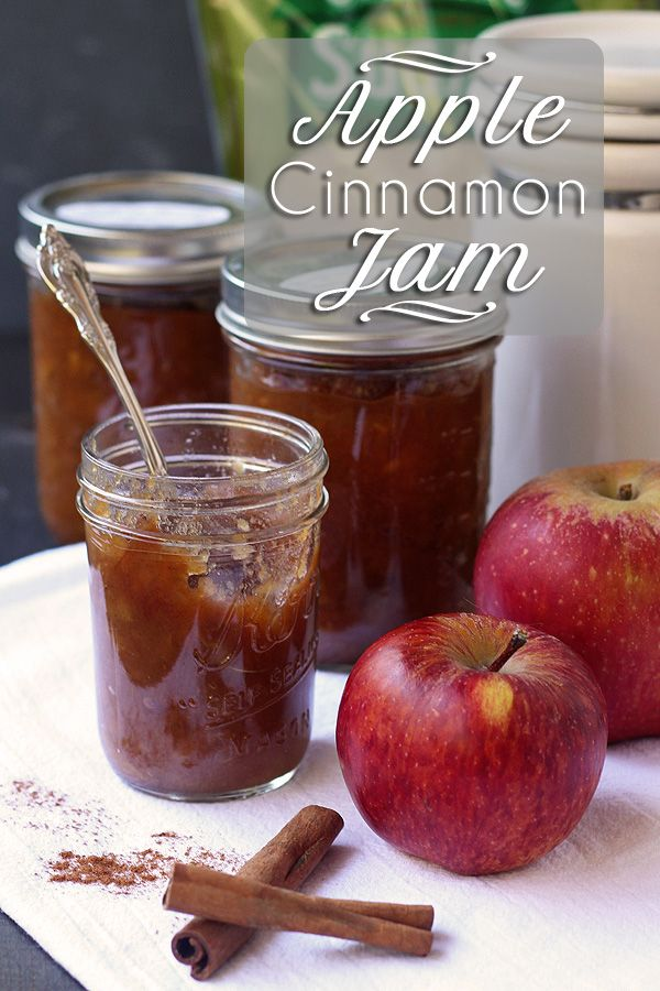 Apple Jam with Cinnamon - Pectin Free