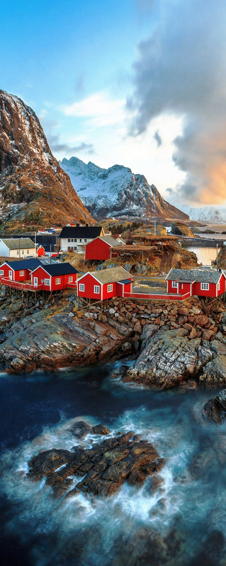 Reine, Lofoten Islands, Norway.  Whether you travel to Norway in the summer or winter you are sure to have an amazing time!  Enjoy 20 incredible photos of Norway!  Fjords | Alesund | Flam | | Bergen | Nature | Waterfalls