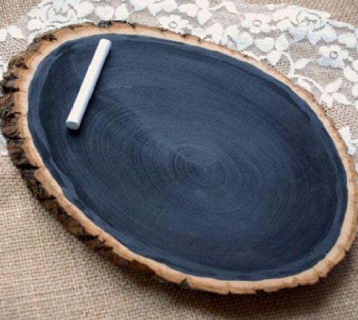 Rustic Chalk Board Log slab, tree branch, country decor, cabins, log, wedding,